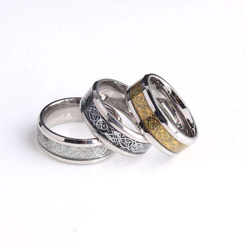 Dragon Wedding Rings For Men Or Women Stainless Steel