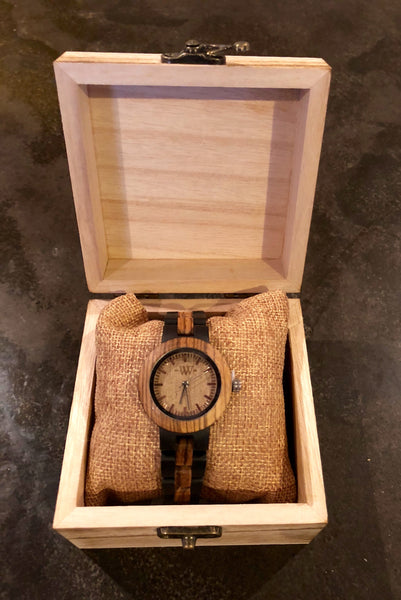 WW Signature Zebra  Women Wood Watch