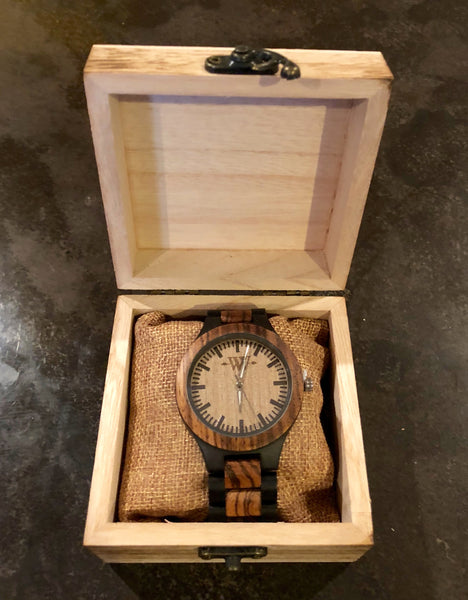 WW Signature Zebra Wooden Watch