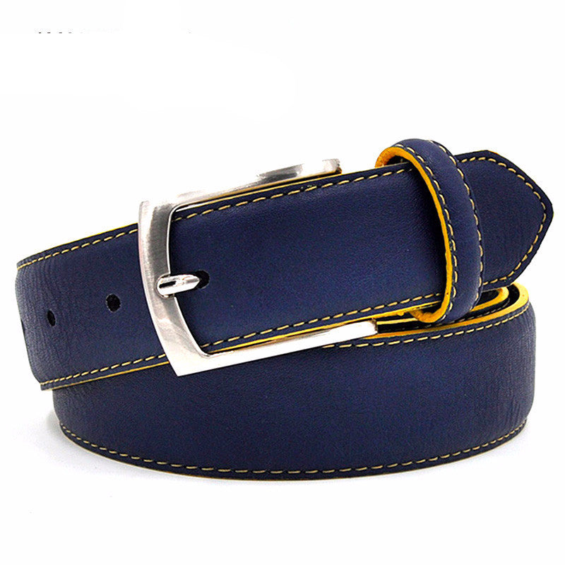 WW Italian Design Casual Fashion Men Split Leather Belts