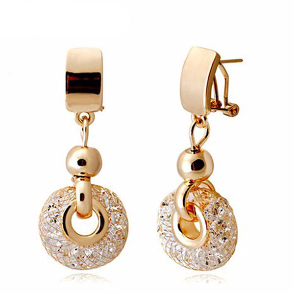 WW Women Luxury Rose Gold Drop Earrings
