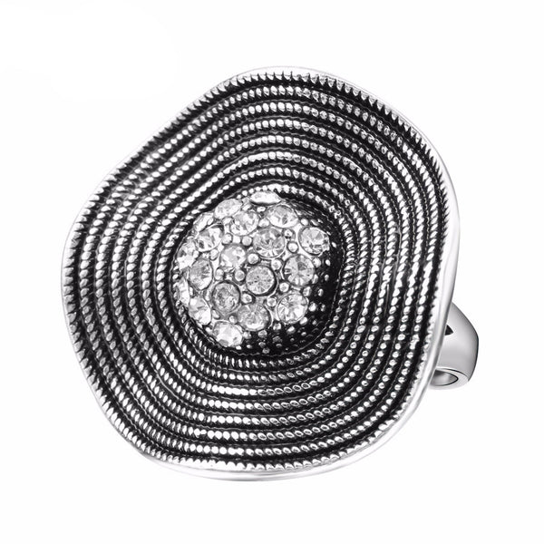 WW Hot CZ Zircon Temperament Fashion Crystal Flower Ring For Women