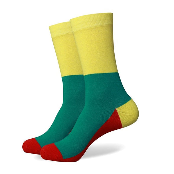 WW Various Colorful Style Cotton Knit Socks For Men US Sizes(7.5-12)