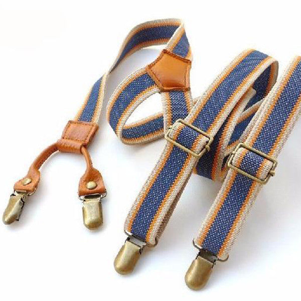 New WW Vintage Suspenders Clip Casual Hit Color Pant Braces for Mens and Womens with Rivets