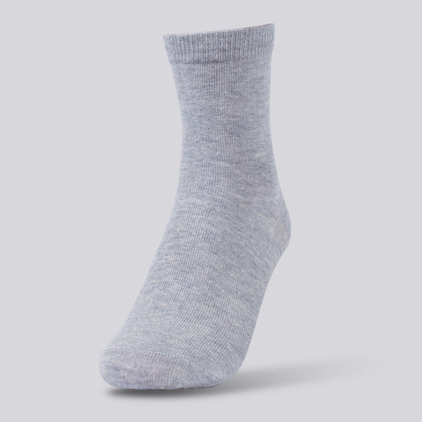 WW Solid Color Cotton Knit Socks For Women