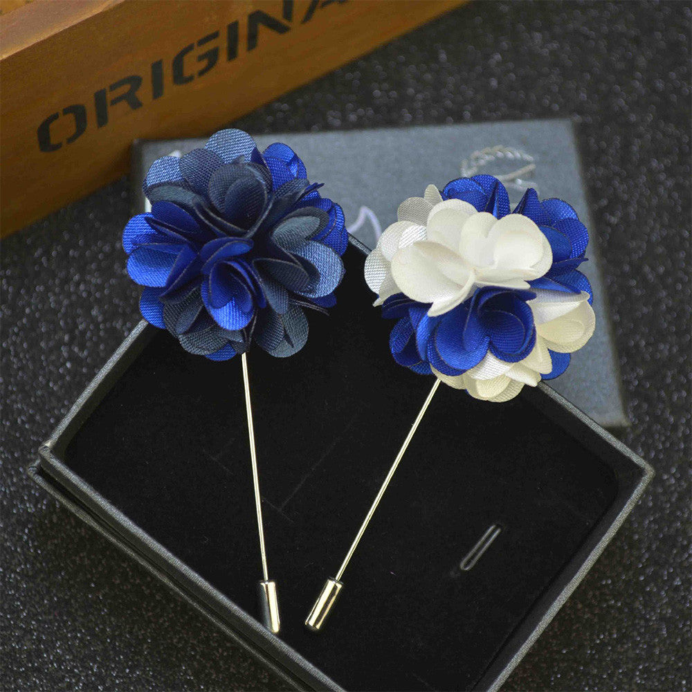 WW Men Flower Lapel Pin / Brooches For Suits Multi Color Men