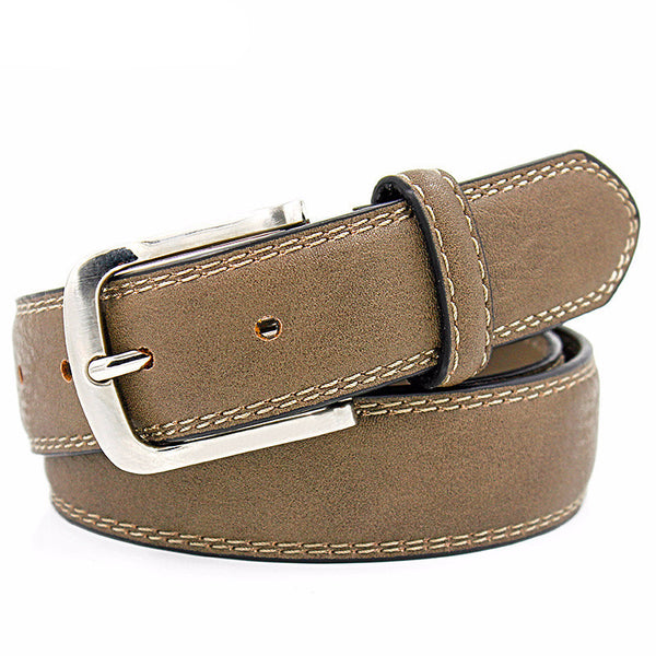 WW Double Stitching Luxury Men Belts