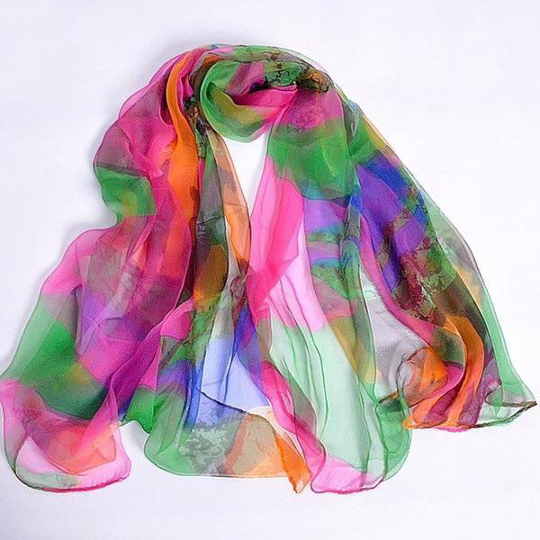 WW New Design Long Female Silk Scarves Printed 170*105cm S