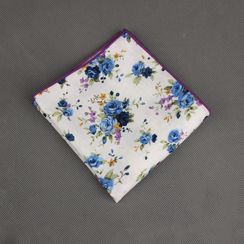 WW Men Various Print Cotton+Polyester Pocket Squares/ Handkerchiefs