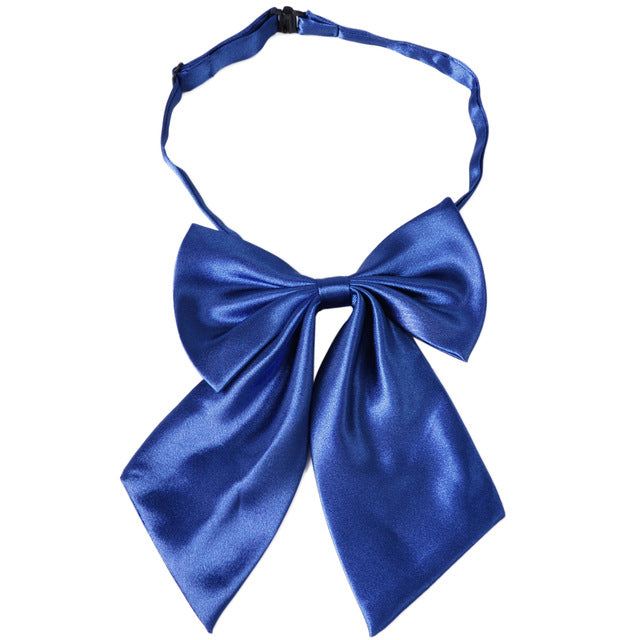WW Classic Solid Royal Blue Adjustable Women Butterfly Bowtie/Neckwear