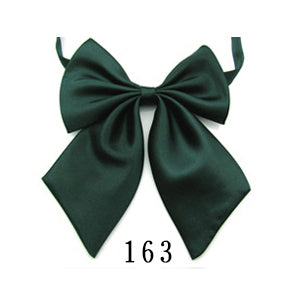 WW Classic Solid Green Adjustable Women Butterfly Bowtie/Neckwear