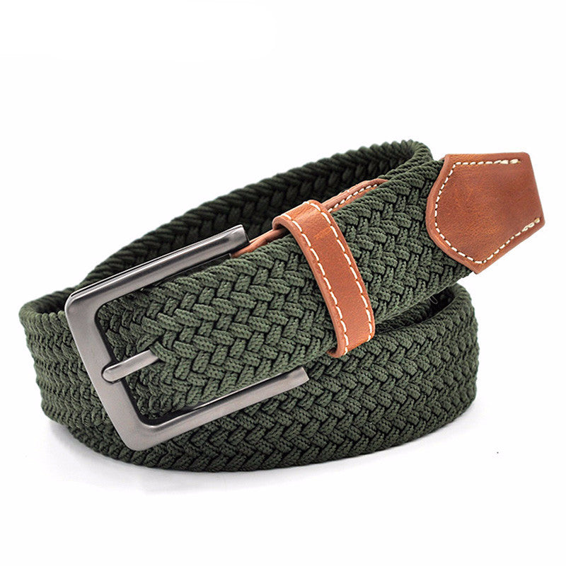 WW Green Woven Braided Elastic Belts