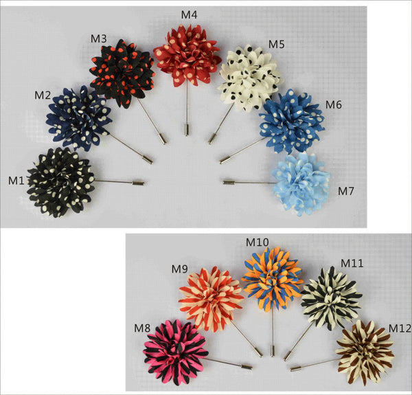 WW New Popular Style Men Daisy Lapel Pin / Brooch Flower 15pcs