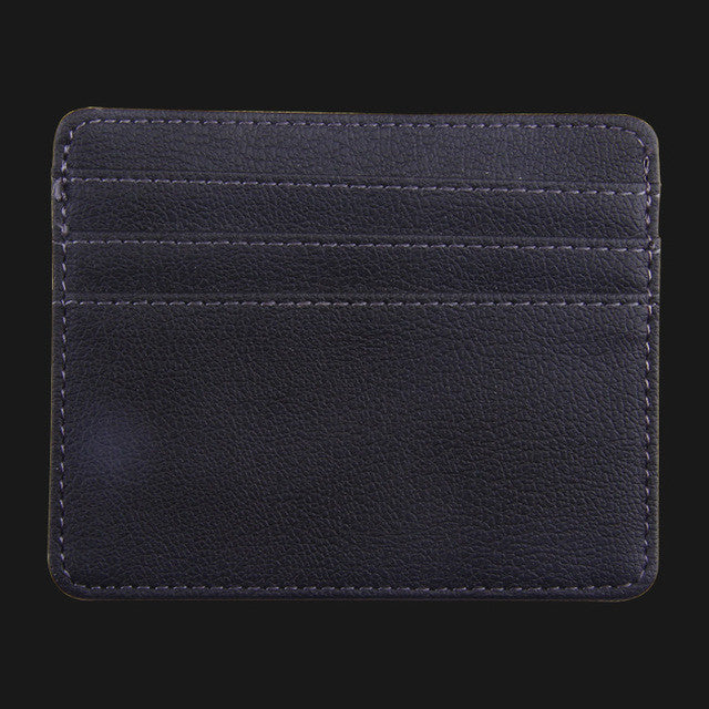 WW Credit Card And ID Card Holder PU Leather Wallet With A 3 Slot Card holder