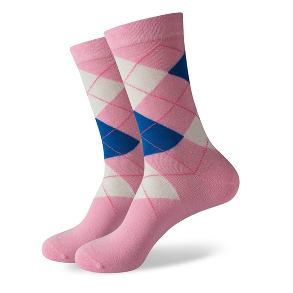 WW Argyle Cotton Knit Socks For Men US Sizes(7.5-12)