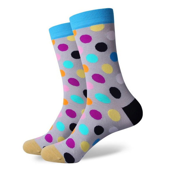 WW Polka Dot Cotton Knit Socks For Men US Sizes(7.5-12)