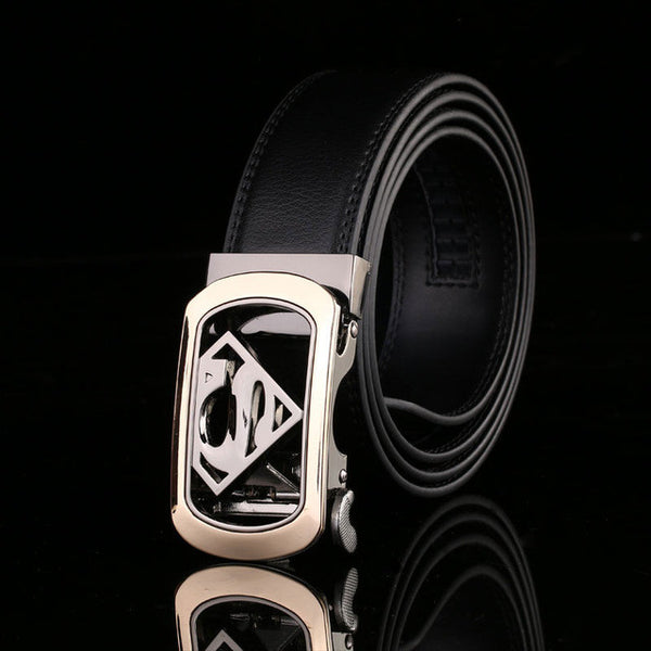 WW Superman Automatic Buckle Luxury Men Belts