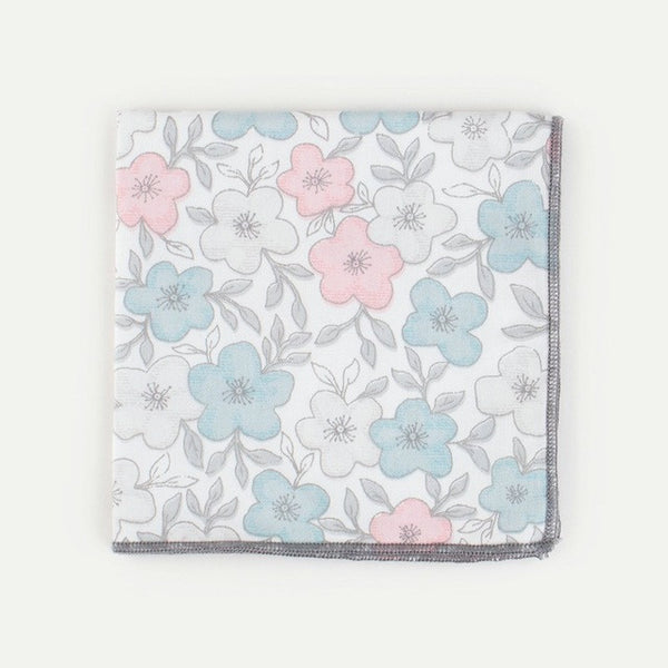 WW Men's Various Floral Print Cotton Pocket Squares /Handkerchief