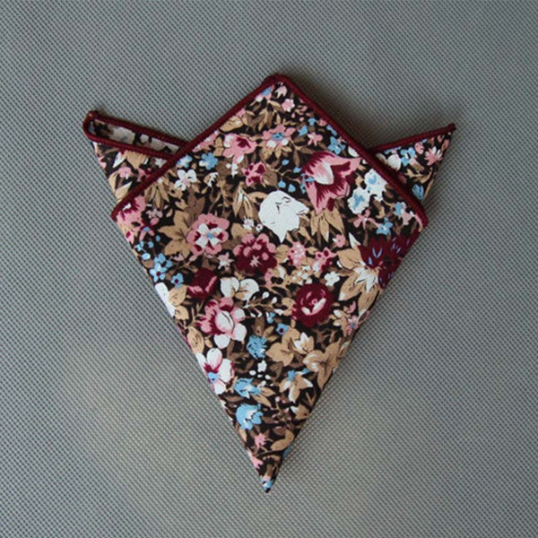 WW Men Multi Floral Print Pocket Squares / Handkerchiefs