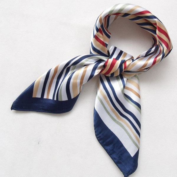 WW Women Polyester Small Square Scarf Printed,British Style 52*52cm