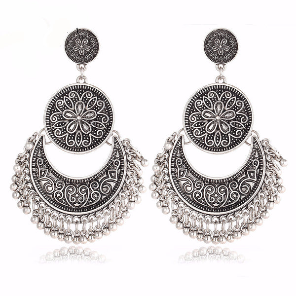 WW Women Vintage Tassel Pendant Ethnic Earrings