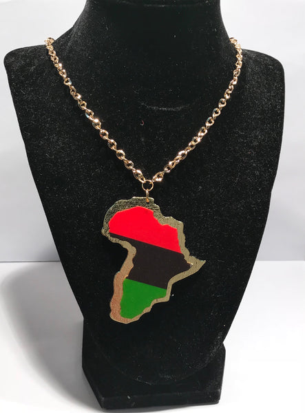 RBG & Gold Africa  Necklaces