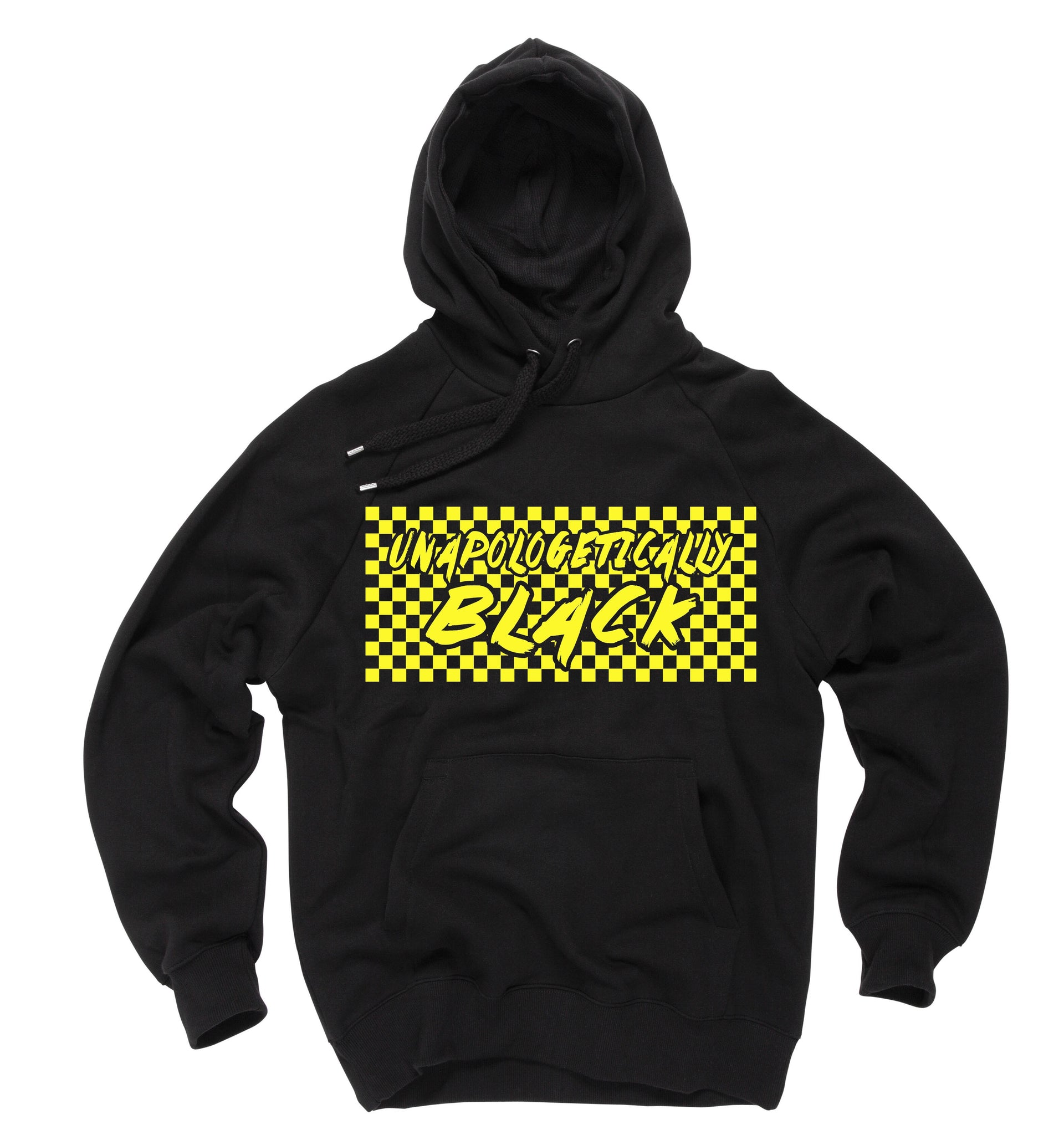 Checkered Unapologetically Black Hoodie