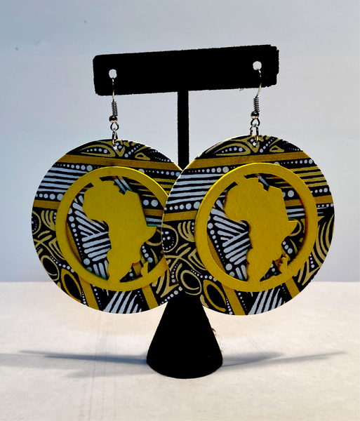 Africa Earrings - Black10.com