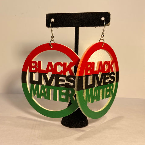 RBG Black Lives Matter Earrings - Black10.com