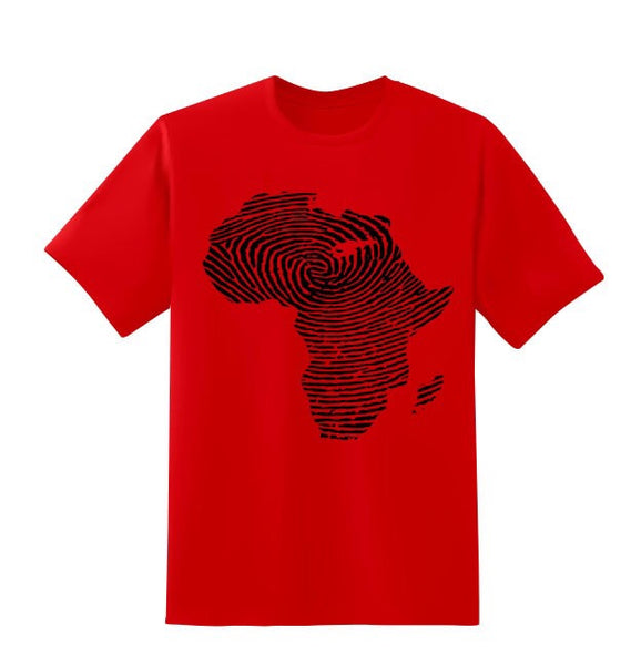 Africa Finger Print Shirt - Black10.com