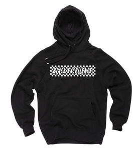 Checkered Black Excellence Hoodie