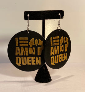 I Am Queen Earrings