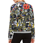 Bierbeach All Over Print Womens Bomber