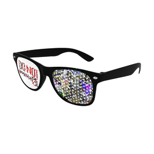 Do not approach me Unisex Perforated Lenses Sunglasses