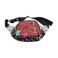 Redblaccwhite TF Fanny pack