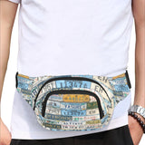 License Plate Collage Fanny Pack