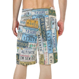 License Plate Beach Shorts