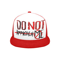Do Not Approach Me Red Trucker Hat