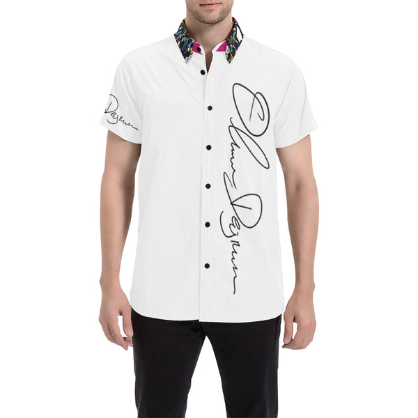 Signature White Button Down Cabana Tee