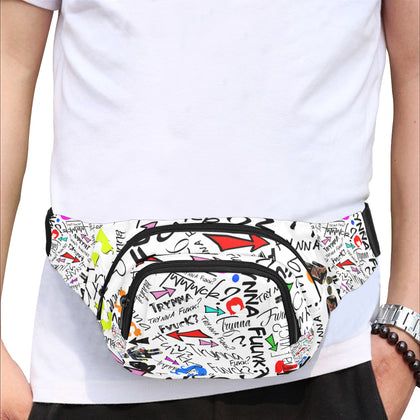 Trynna Fvck White Fanny Pack
