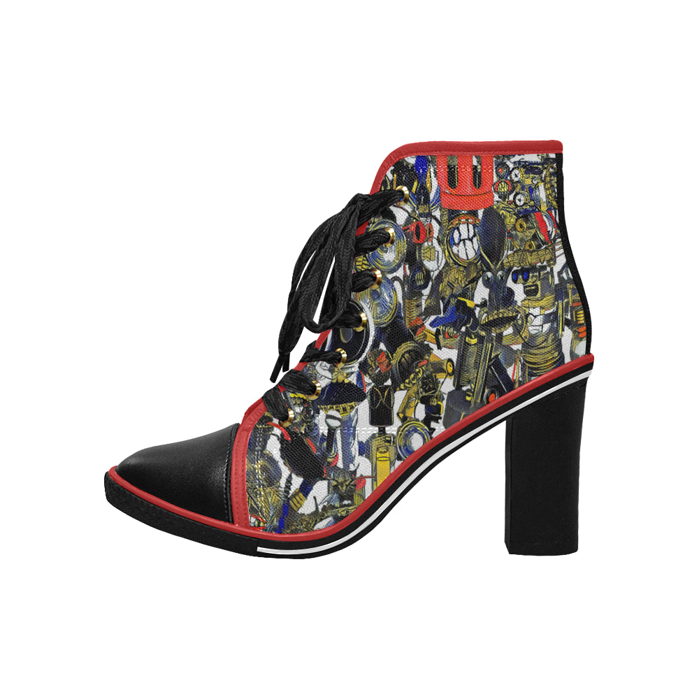 BB Camo Dark High Heels