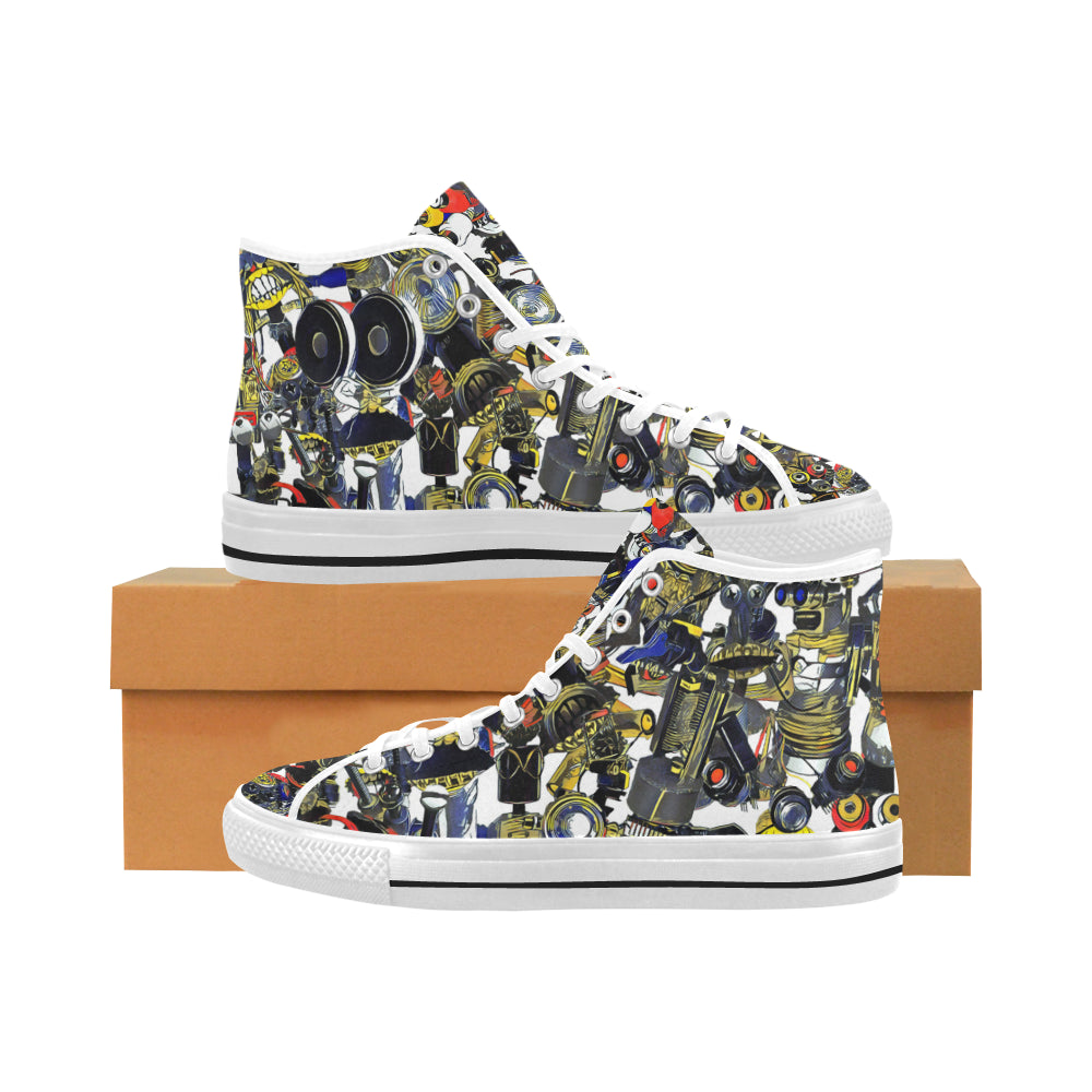 BB Camo Dark on White Vâncouver High Tops