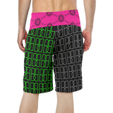 Mixed BB Pattern Beach Shorts