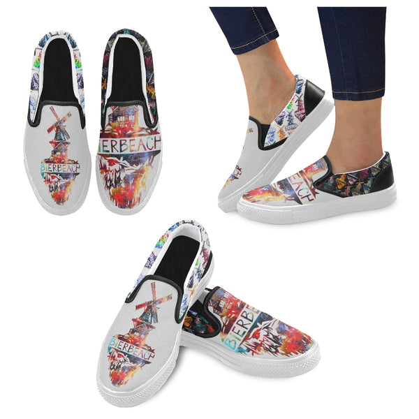 Bierbeach Logo Classic Slip On Sneakers