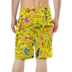 Yellow TF Beach Shorts