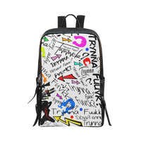 Trynna Fvck Full Front Panel Print Backpack