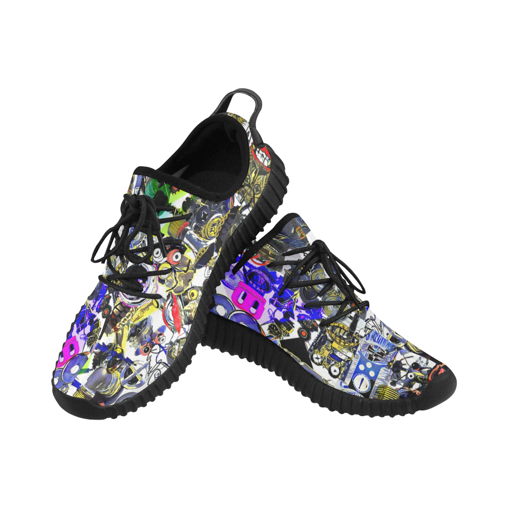 Bierbeach All Over Print Yeezy Type Sport Shoes