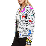 Trynna Fvck (White) Womens Bomber