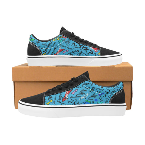 TF Miami Blue & Black Low Tops