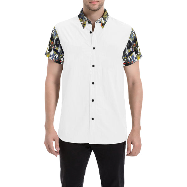 Anye Kwest Button Down Cabana Tee